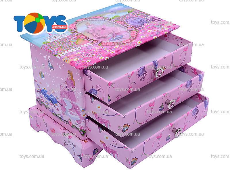 Шкатулка для девочки из картона