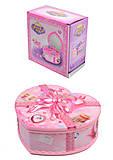 Музыкальная шкатулка Сердце с балериной, 9213-1, магазин игрушек