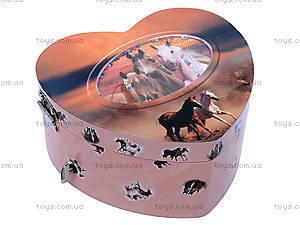 Шкатулка музыкальная с лошадью, HOR-006BR