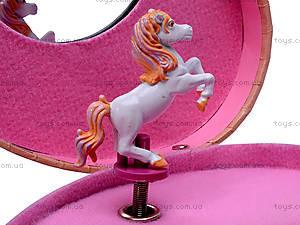 Шкатулка музыкальная с лошадью, HOR-006BR, фото