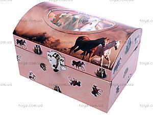 Шкатулка с крутящейся лошадью, HOR-017BR
