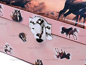 Шкатулка с крутящейся лошадью, HOR-017BR, купить