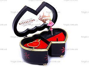 Шкатулка «Сердечки», с балериной, 6007A