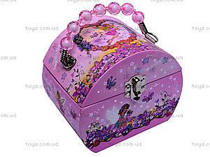 Шкатулка сумочка-сундучок с балериной, BT-C-031