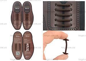 Шнурки AntiLaces Classic, коричневые, CBR30