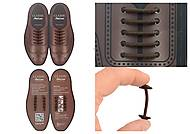 Шнурки AntiLaces Classic, коричневые, CBR30, фото