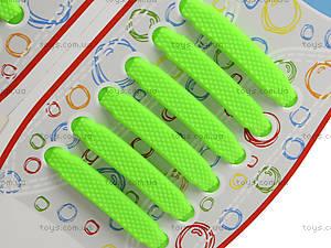 Зеленые шнурки AntiLaces Kids, KG38, фото