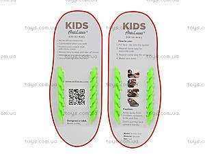 Зеленые шнурки AntiLaces Kids, KG38, игрушки
