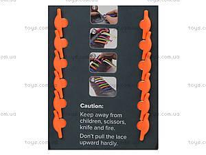 Удобные оранжевые силиконовые шнурки, SO565, фото