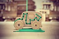 Шнуровка - каталка Автобус, 03-001, магазин игрушек