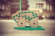 Шнуровка - каталка «Бегемот» ArIn WOOD, 03-005, детские игрушки