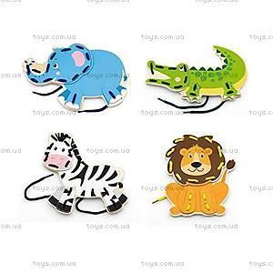 Шнуровка Viga Toys «Дикие животные», 51326