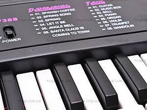 Синтезатор детский с микрофоном, 3738S, цена