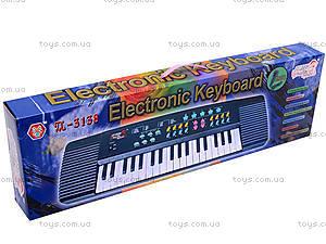 Синтезатор для детей, с микрофоном, TX3138, отзывы