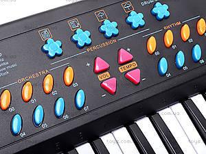 Синтезатор для детей, с микрофоном, TX3138, цена