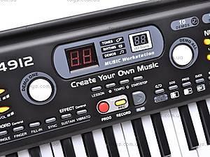 Синтезатор с микрофоном для деток, MQ4912, купить