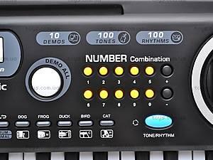 Синтезатор с микрофоном для деток, MQ4912, детские игрушки