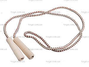 Скакалка 2 метра, ручки буковые, 172058, фото