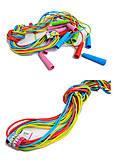 Скакалка резиновая 3 цвета, S0023, детские игрушки