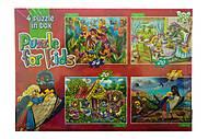 Сказочные пазлы: 54 и 20 элементов, 4 картинки, K5420-02-10, купить