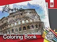 """Скетчбук Раскраска Города """"Рим"""" 10 л А4, 1В1688, цена"""