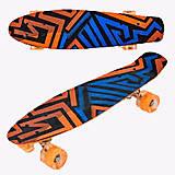 Скейт Best Board 55см, колёса светятся, F7620, игрушка