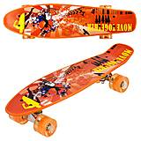 "Скейт ""Best Board"" оранжевый, P13222, купить"