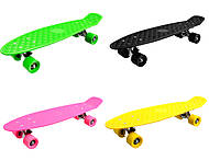 Пластиковый скейт PVC колеса, 6 цветов, BT-YSB-0024, фото