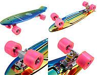 Блестящий пластиковый скейт с PVC колесами, BT-YSB-0033, фото