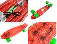 Пластиковый скейт, прозрачный с PU колесами, BT-YSB-0037