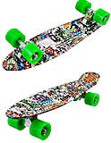 Пластиковый скейт с рисунками и PVC колесами, BT-YSB-0039