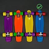 Скейт с PU колесами голубого цвета, 780779-82, игрушка