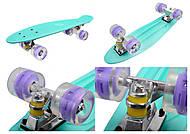 Скейт бирюзового цвета с PU колесами, 0710