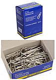 Скрепки никелированные 25 мм, 100 штук, треугольные (10 наборов в упаковке), BM.5007, купити