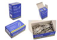 Скрепки никелированные 28 мм, 100 штук, пятиугольные (10 наборов в упаковке), BM.5010, Украина