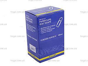 Скрепки никелированные 28 мм, 100 штук, пятиугольные (10 наборов в упаковке), BM.5010, отзывы