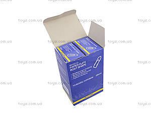 Скрепки никелированные 28 мм, 100 штук, пятиугольные (10 наборов в упаковке), BM.5010, цена