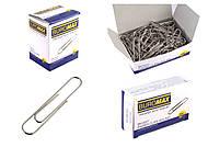 Набор скрепок закругленные никелированные 100шт (10 упаковок), BM.5001, доставка