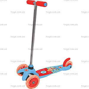 Детский трехколесный скутер «Фиксики», с тормозом, Т58463