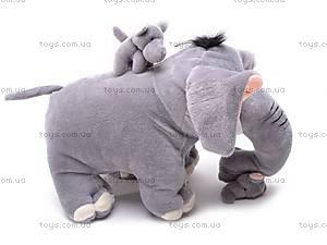 Слоник со слонятами, плюшевые, S-JJ2222, фото