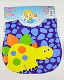Слюнявчик «BIMBO Динозавр желтый», 7218, детские игрушки