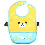 Слюнявчик тканевый с карманом «Мишка», Ф 931, игрушки