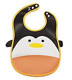 Слюнявчик тканевый с карманом «Пингвин», Ф 931, игрушка