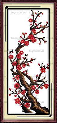 Сливовая ветка, вышивка картины, H068