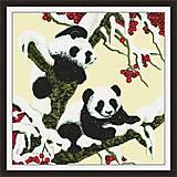 Снежные панды, картина для вышивки, D028, фото