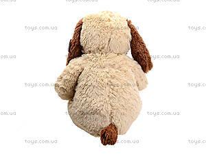 Мягкая собачка  с бантиком для малыша, S-JY-345940SK, фото