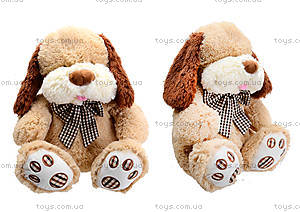 Мягкая собачка  с бантиком для малыша, S-JY-345940SK