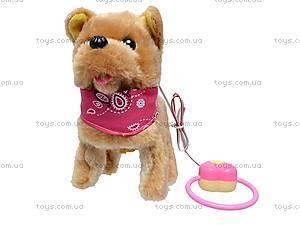 Собака с поводком игрушечная, 9105D1, купить