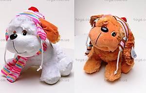 Собака сидячая, с шарфом, S38-11376