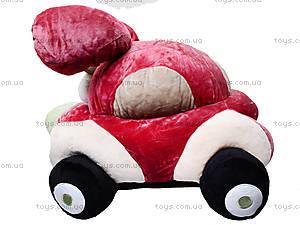 Плюшевая машина-игрушка «Софт-мобиль», К345А, игрушки